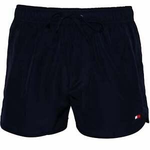 1c7494a277 Tommy Hilfiger Side Logo Athletic-Fit Men's Swim Shorts, Navy | eBay