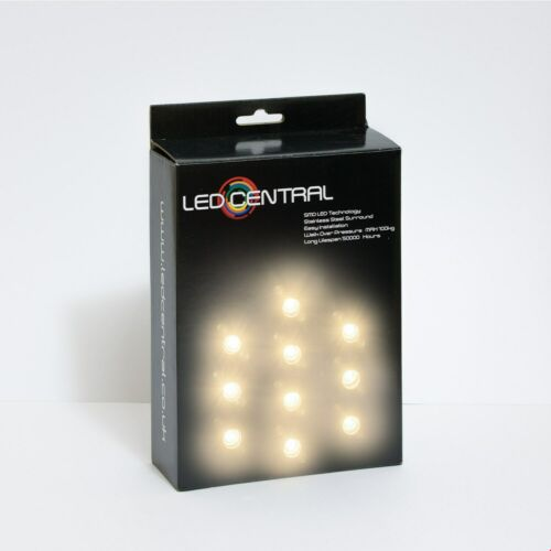 10 x 15mm LED Decking//Kitchen Lights Various Colours