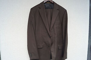 Details zu ESPRIT Collection Boston fit Heren Men Anzug Sakko Jacke Blazer Hose Gr.48 braun