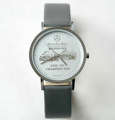 Mercedes Benz AMG DTM 1995 Men`s Women`s Watch / Grey Leather Band