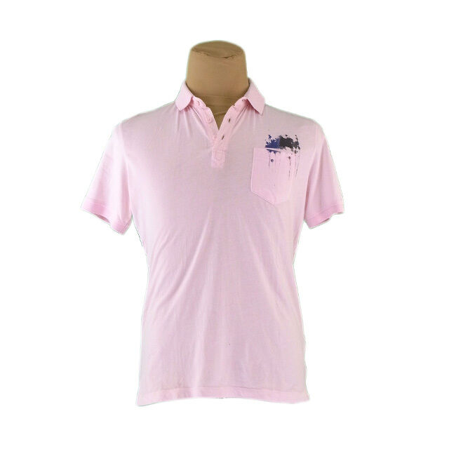 Diesel Polo shirt Pink Mens Authentic Used H523
