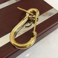 2.5 in Solid Brass Keychain Carabiner Key Ring Hook Hang Spring Snap Clip Locks