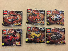 Shell Lego Ferrari Toy Model Cars Set Of 6 NEW 30190-30195 **LOOK**