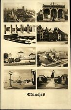 München Mehrbildkarte ~1920/30 Hofbräuhaus Bavaria diverse Stadtansichten u.a.