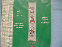 Vintage Counted Cross Stitch Kit-mini Bell Pull-twas The Night Before Christmas