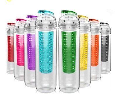 800ml Fruit Fuzer Infuser Water Bottle Sports Juice Maker