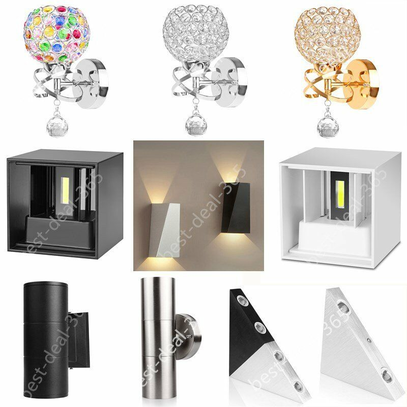Small Indoor Wall Lamps : Modern LED Wall Light Up Down Indoor Outdoor Sconce Lighting Lamp Home Bedroom eBay