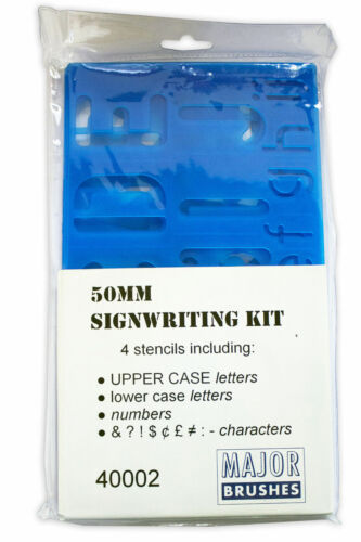 A-Z LETTERS CAPITAL 50mm LOWERCASE 20mm 0-9 NUMBERS STENCIL TEMPLATE SIGNWRITING