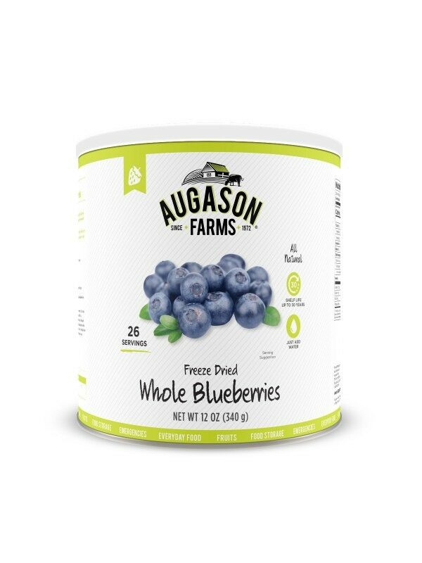 Augason Farms, Freeze Dried Whole blueeberries, Can, NEW & FRESH
