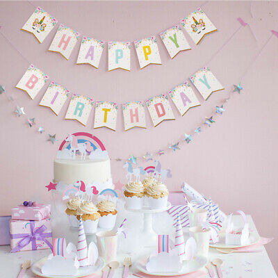 shower bunting banner   party supplies magical birthday wall hanging-QX