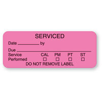 Serviced Labels 2.25w X 0.875h 420 Roll on sale