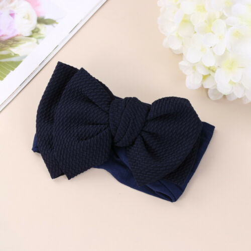 Baby Girls Headband Big Bow Cotton Blend Nylon Hair Bow Hair Band for Newborn
