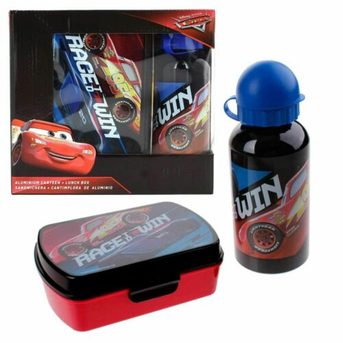 Brotdose /& Alu TrinkflascheDisney CarsFrühstücks-SetKinder Lunchbox-Set