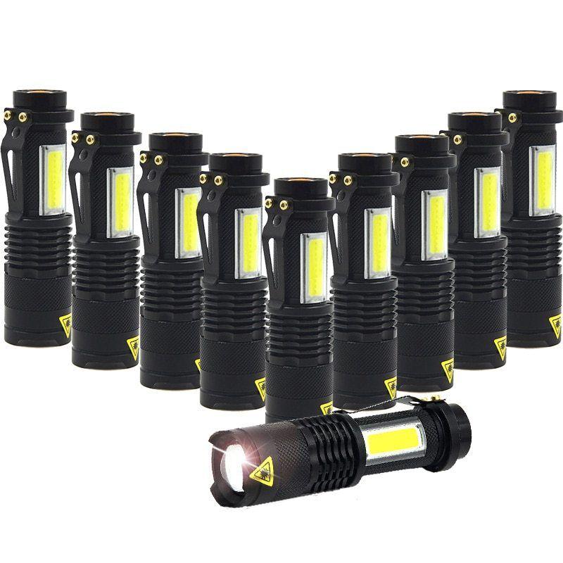 Portable Q5 COB LED Flashlight Mini Led Torch 4 Modes Flashlights