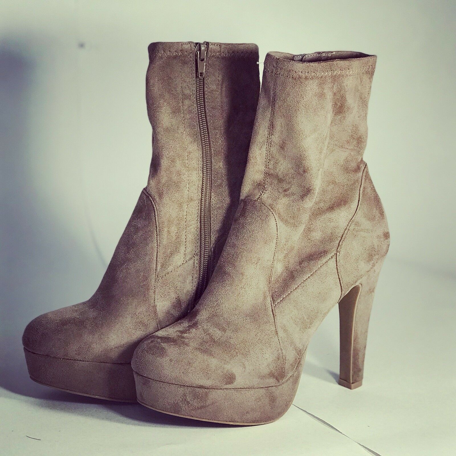 6a6b60dc881 CHARLOTTE RUSSE Brown Brown Brown Suede Booties Size 9 3b211c ...
