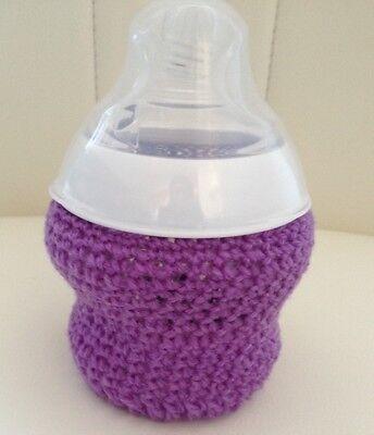 handmade crochet baby bottle cover any brand 5oz tommee tippee Dr