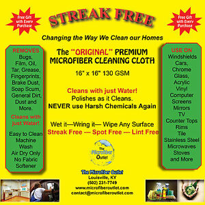 Microfiber Cloths STREAK FREE 25 Pack Cleaning Ships Free 3 FREE GIFTS
