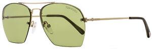 Tom-Ford-Aviator-Sunglasses-TF505-Whelan-28N-Gold-Green-Horn-FT0505