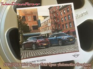 2016 2017 Mini Cooper Automotive Brochure John Crace Model Clubman