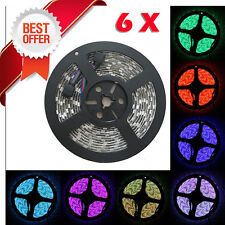 6 x 5M 16.4ft 12v SMD RGB 5050 IP65 Waterproof 150 LED Flexible Tape Strip Light