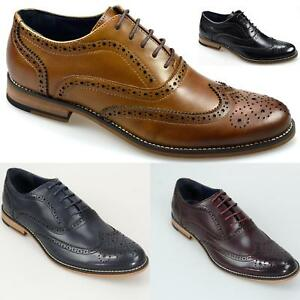 Men Prom Dress Formal Oxfords Shoes Leather Suit Brogue Wing Tip Wedding Sneaker