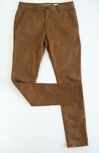 INDUSTRIE-Men-039-s-039-Cuba-039-Tapered-Slim-Leg-Mid-Rise-Chino-Pants-W30-X-L32-Tan-NWOT