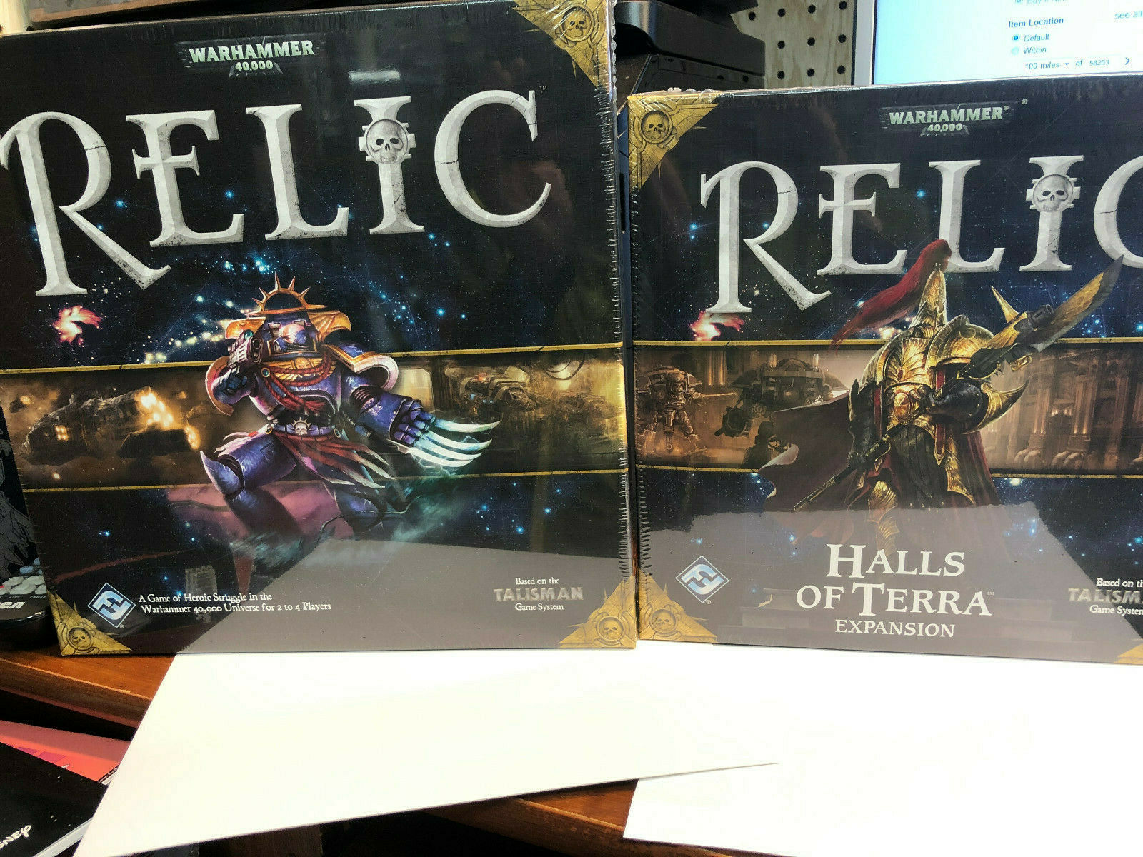 Board Game Warhammer 40k Relic Base game and Halls of of of