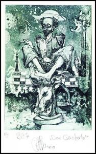 Agirba Ruslan 2010 Exlibris C3 Cervantes Don Quichote Quijote Chess Bull 315p -  Dabrowa, Polska - Agirba Ruslan 2010 Exlibris C3 Cervantes Don Quichote Quijote Chess Bull 315p -  Dabrowa, Polska
