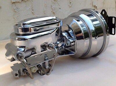 "1957-59 Ford Fullsize 292-312 8/"" Dual Power Brake Booster Master Cylinder"