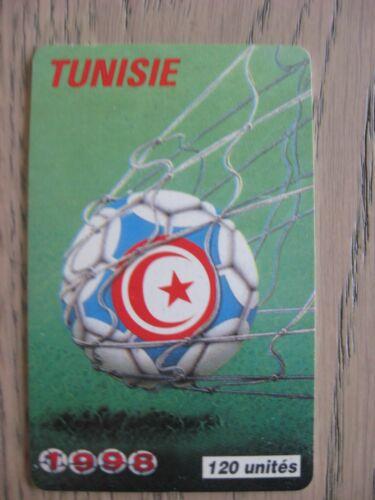 CARTE TELEPHONIQUE TUNISIE COUPE DU MONDE FOOTBALL 1998 FRANCE 98 WORLD CUP WM