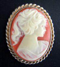 Vintage broche camafeo o Medallón