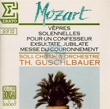 MOZART vepres messe CD th guschlbauer ERATO ecd 55007 made in france