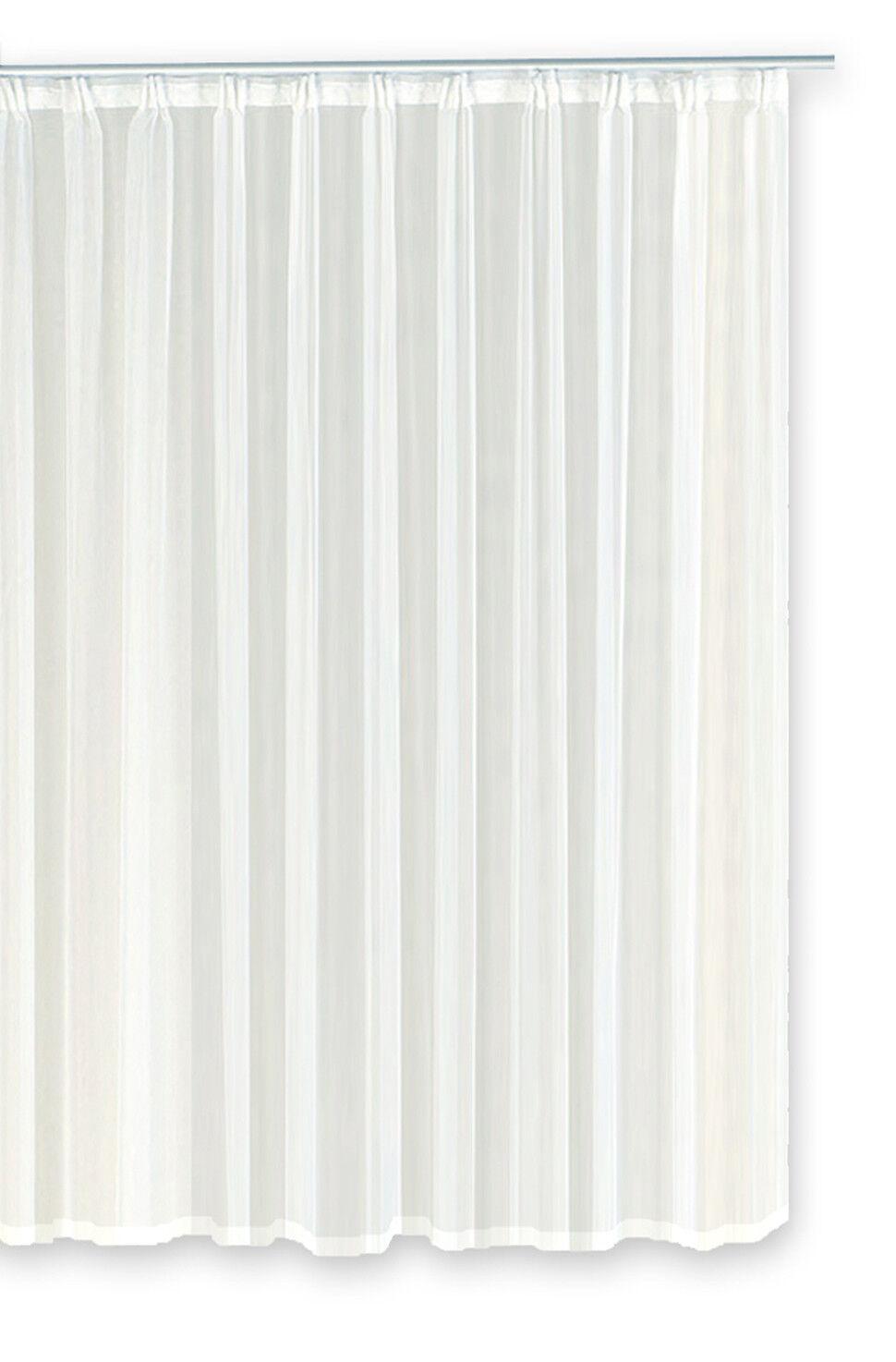 Voile Dekoschal Rideau Rideau Rideau émotion Blanc Organza Rideau kr uselband classique 107c5a