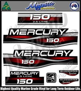 OUTBOARD DECALS MERCURY 25hp DECAL SET SEAPRO