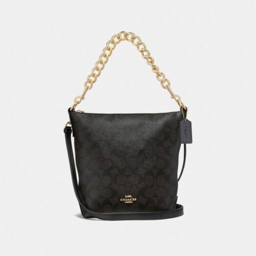de Abby New Mini cuero Duffle Chain Coach F45028 Bandolera 0PtwqaEP