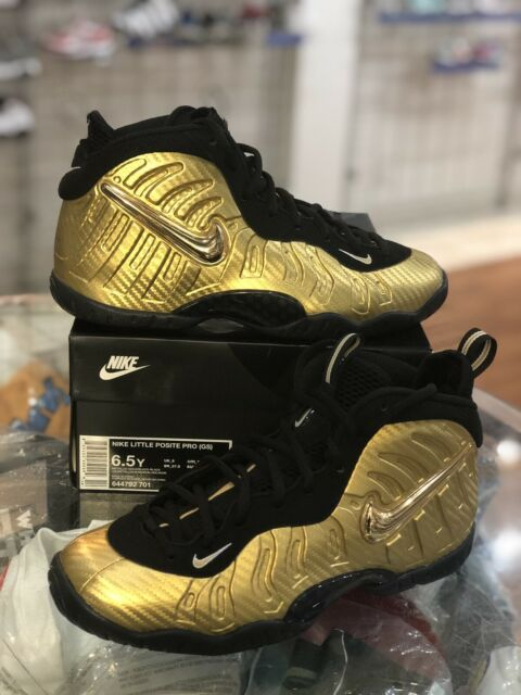 best service 2e367 efce7 Nike Foamposite Pro GS Metallic Gold Little Posite 644792-701 Youth - 6.5y