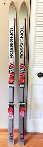 Silver-Red-Rossingnol-LTD-168-cm-skis-with-Tyrolia-190-D-Bindings-Made-in-Spain