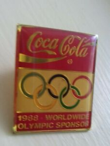 Coca-Cola-1988-World-Olympics-Sponsor-lapel-pin-pre-owned