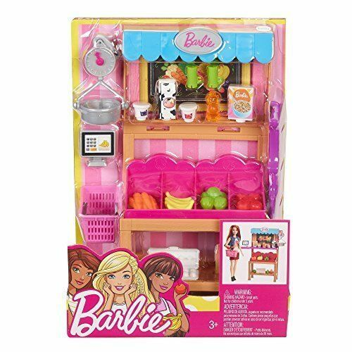 NEW Mattel Barbie Grocery Stand Playset Grocery Shopping Play set