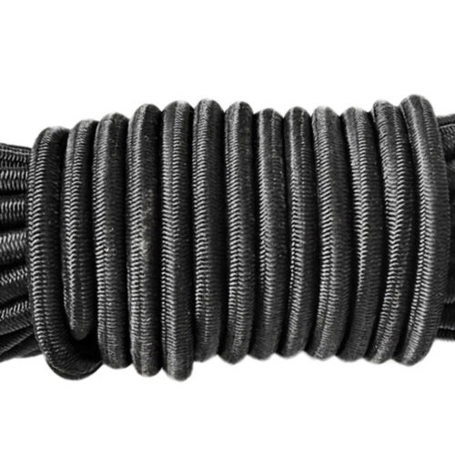 16.4ft Elastic Bungee Rope Shock Cord Tie Down+6Pcs Barrel 2 Hole Cordlocks