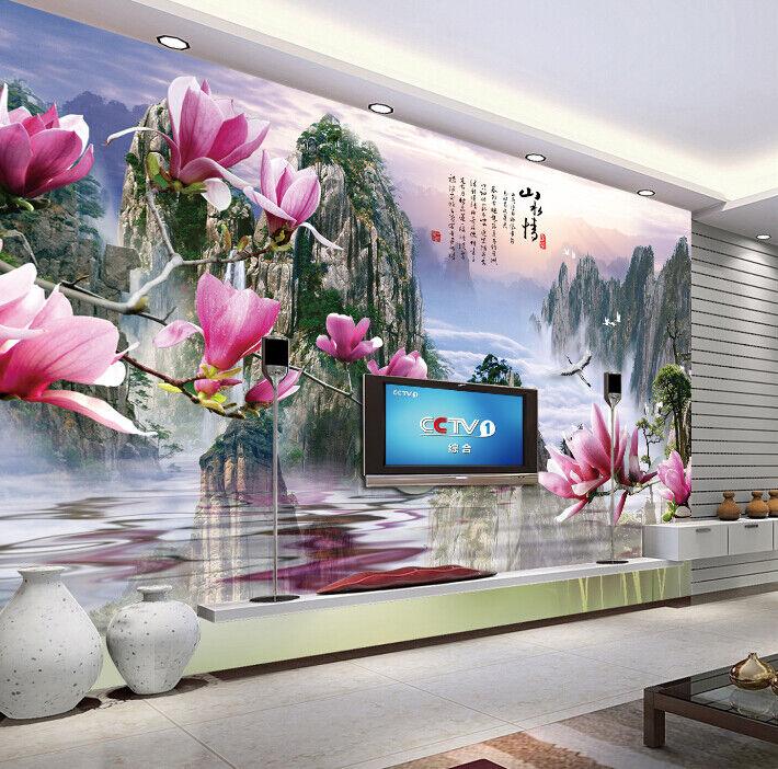 3D Blumenlandschaft 69 Tapete Tapeten Mauer Foto Familie Tapete Wandgemälde DE