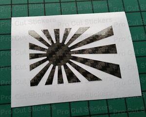 Soleil-Levant-Jdm-Japon-Fibre-Carbone-Decoupe-de-Pieces-Autocollant-Decalque