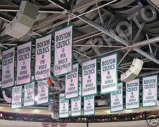 BOSTON CELTICS NBA CHAMPIONS BANNERS 8X10 PHOTO
