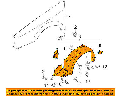 Replacement Fender for 04-05 Impreza Front Driver Side Inner SU1250101