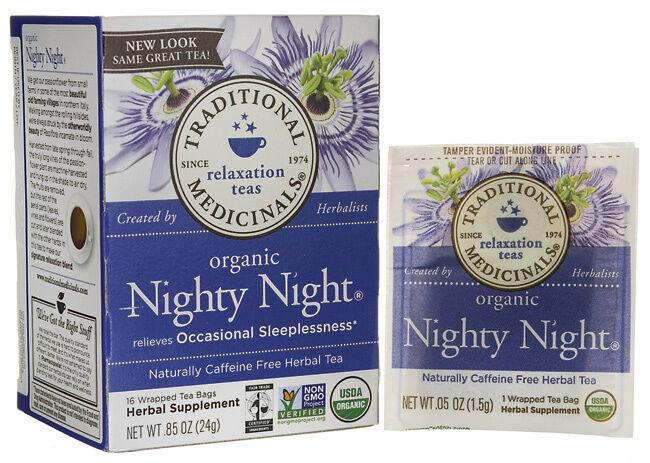NIGHTY NIGHT SLEEPLESSNESS RESTFUL CALMS RELAX DEEP SLEEP SLEEPING 16 TEA BAGS 1