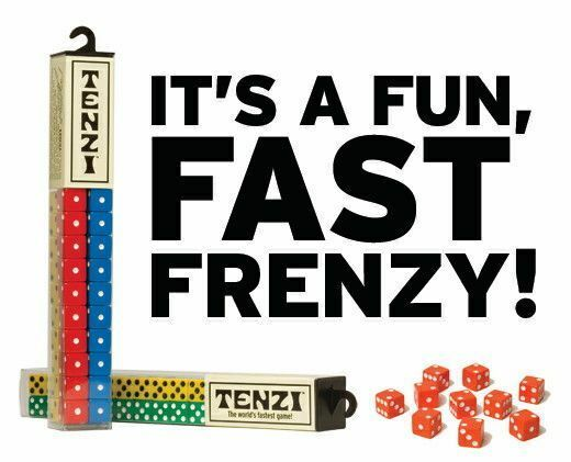 Tenzi Dice Game 1 Tube 4 Colors Fast Family Carma Games 40 Instructions for sale online