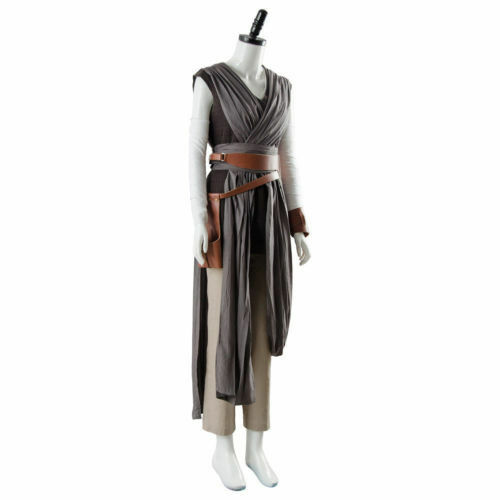 Star Wars 8 The Last Jedi Rey Outfit Ver.2 Cosplay Costume Outfit New Full Set#5