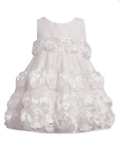 Bonnie-Baby-White-Rosette-Dress-Sleeveless-Summer-Wedding-Flower-Girl-Party
