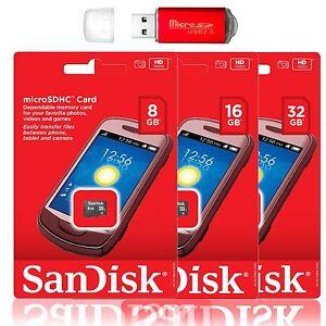 SanDisk-Micro-SD-Card-32GB-16GB-8GB-TF-Flash-memory-Card-Samsung-S9-S8-LG-G7