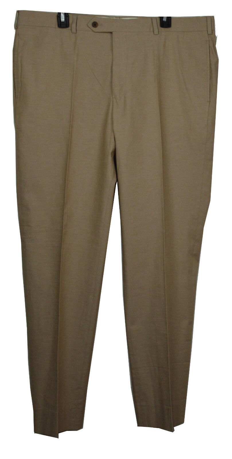 New Brooks Bredhers Men Regent Fit Solid Size 38x34 Beige Cotton Trousers 5640-3